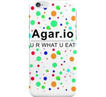Agar.io U R WHAT U EAT iPhone Case/Skin