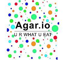 Agar.io U R WHAT U EAT Photographic Print