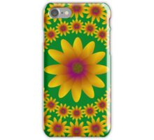 Flower Circle Pattern With Large Flower iPhone Case/Skin
