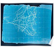 Civil War Maps 2230 Sketch of the Manassas battlefield Inverted Poster