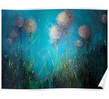 Abstract Dandelions Poster