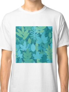 Turquoise leaves  Classic T-Shirt