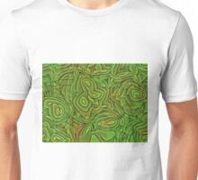Green and Brown Textured Digital Camouflage Unisex T-Shirt