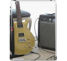 gold top electric guitar and amplifier 2 iPad Case/Skin