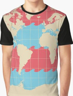 World Traveler Colorful Map of the Earth Graphic T-Shirt