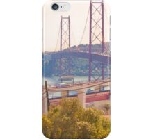 the bridge. Ponte sobre o Tejo iPhone Case/Skin