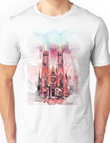 Gothic revival church in Zyrardow Unisex T-Shirt