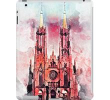 Gothic revival church in Zyrardow iPad Case/Skin