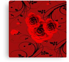 Rote Rosen - red roses Canvas Print