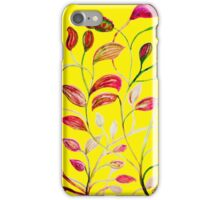 Red and Green Leaves! Yellow Sunshine! iPhone Case/Skin