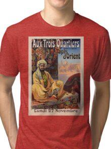 Vintage poster - Aux Trois Quartiers Tri-blend T-Shirt