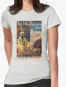 Vintage poster - Aux Trois Quartiers Womens Fitted T-Shirt