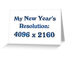 New Year's 4k Greeting Card
