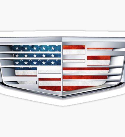 Cadillac American Flag logo Sticker
