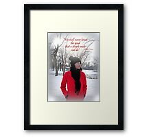 A Smile Framed Print