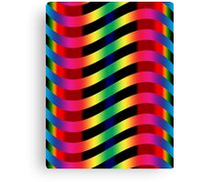 Vibrant Wiggly Line Pattern Canvas Print