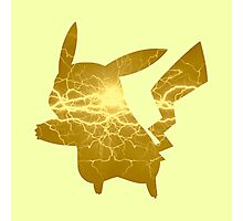 Pikachu Electric Silhouette Photographic Print