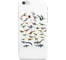 Colored Dinosaurs chart iPhone Case/Skin