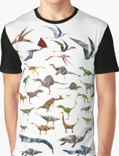 Colored Dinosaurs chart Graphic T-Shirt