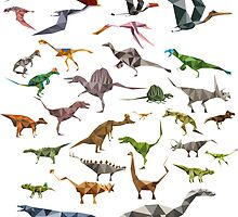 Colored Dinosaurs chart by quickoss