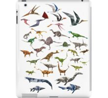Colored Dinosaurs chart iPad Case/Skin