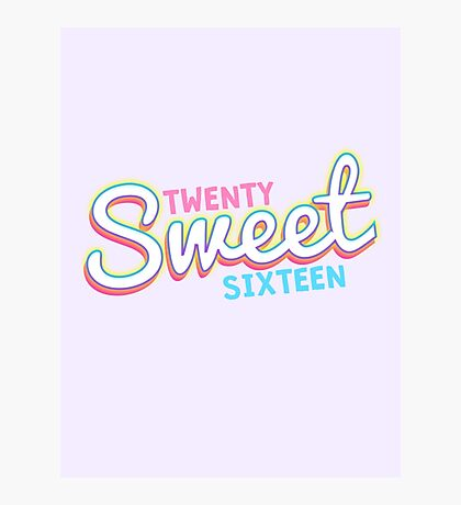 Twenty Sweet Sixteen (baby blue & pink edition) Photographic Print