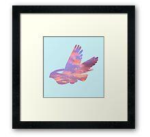 Pidgeot Sky Silhouette Framed Print