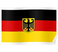 GERMANY, GERMAN, FLAG, Coat of arms of Germany, Common unofficial flag variant Poster