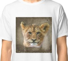 Lion Cub in Watercolor Classic T-Shirt