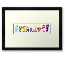 mario and the gang Framed Print