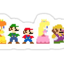 mario and the gang Sticker