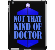 Doctor Who: Not That Kind Of Doctor, Tardis. iPad Case/Skin
