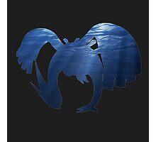 Lugia Underwater Silhouette Photographic Print