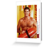 David Hasselhoff Greeting Card
