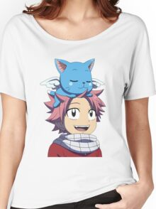 Fairy Tail - Happy and Natsu Cute Women's Relaxed Fit T-Shirt