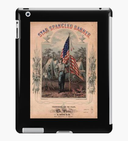 American Civil War, Poster, Star Spangled Banner, America, American, USA, United States iPad Case/Skin