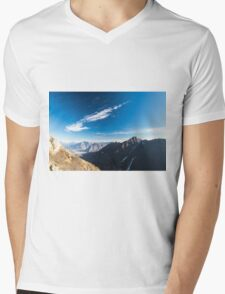 Autumn morning in the alps Mens V-Neck T-Shirt