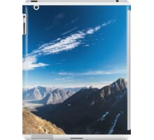 Autumn morning in the alps iPad Case/Skin