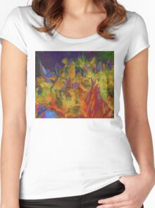 Grunge Tulips Women's Fitted Scoop T-Shirt