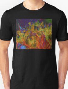 Grunge Tulips Unisex T-Shirt
