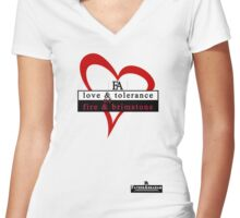 Love & Fire Women's Fitted V-Neck T-Shirt