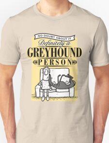 Greyhound Person Unisex T-Shirt