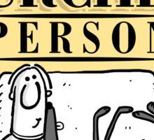 Lurcher Person Sticker
