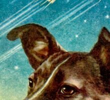 Laika the Sputnik 2 Russian Space Dog! Sticker