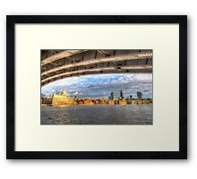 City of London and River Thames Framed Print