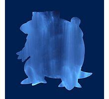 Blastoise Water Silhouette Photographic Print