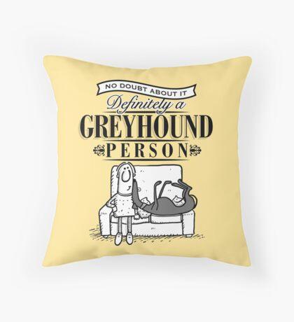 Greyhound Person Throw Pillow