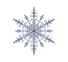 Art Nouveau Snowflake Photographic Print