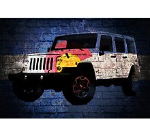 Colorado flag Jeep wrangler wrap brick wall Photographic Print