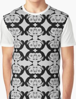 Audrey Black on Gray Graphic T-Shirt